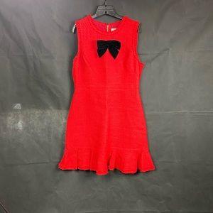 """Kate Spade red """"tweed"""" skater- size 14"""